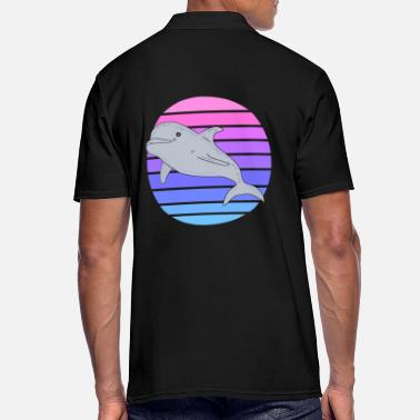 Dolphin sunset - Men's Polo Shirt