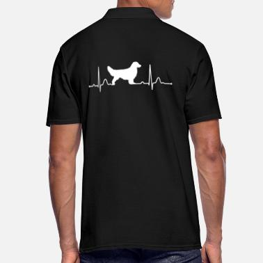 Golden Retriever GOLDEN RETRIEVER heartbeat heartbeat - Men's Polo Shirt