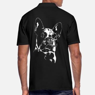 fransk bulldog poloshirts bestil online spreadshirt. Black Bedroom Furniture Sets. Home Design Ideas