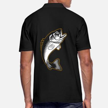 Carpe Poisson Carpe silhouette poisson - Polo Homme