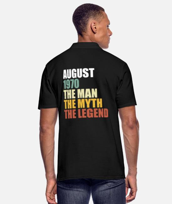 Legend Polo Shirts - August 1970 - man legend legend retro - Men's Polo Shirt black