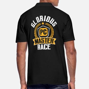 Pc PC Gamer PC Gaming PC Master Race Zocken Zocker - Männer Poloshirt