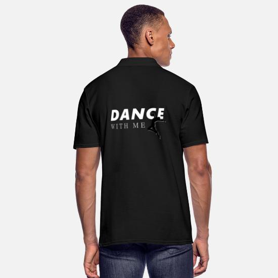Dancer Polo Shirts - Dance with me - Dance with me - Men's Polo Shirt black
