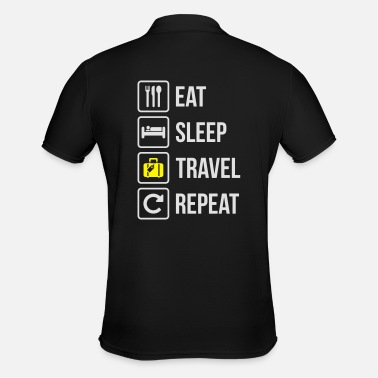 Trotter Eat Sleep Travel Repeat - Men's Polo Shirt