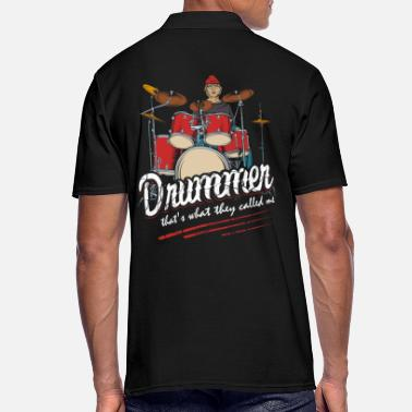 Drum'n'bass Tambor drum'n'bass tambores - Camiseta polo hombre
