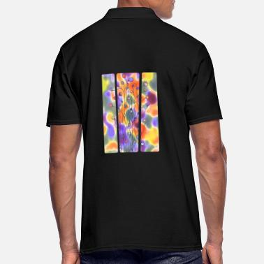 Chic Abstract Art Neuro Art Blades of Grass 4 - Men's Polo Shirt