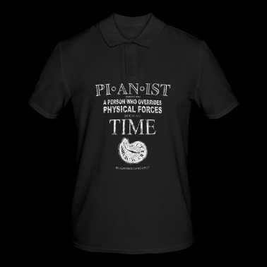 Pianist T-Shirt - A Person Who Overrides Physical - Men's Polo Shirt