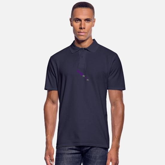 Starry Sky Polo Shirts - arrow - Men's Polo Shirt navy