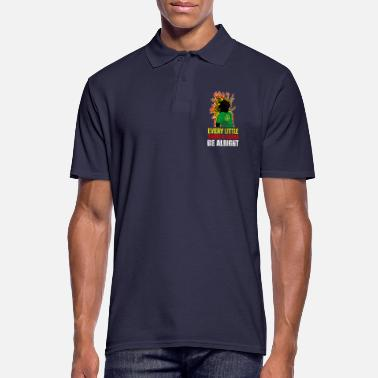 Rastafari Reggae rastafari peace and love - Men's Polo Shirt
