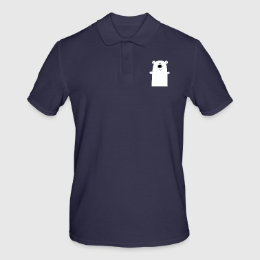Polar Bear Cuddly polar bear - polar bear - bear - children - Men's Polo Shirt