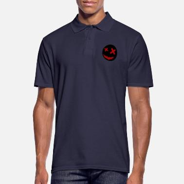 Unusual Crazy smiley face - Men's Polo Shirt