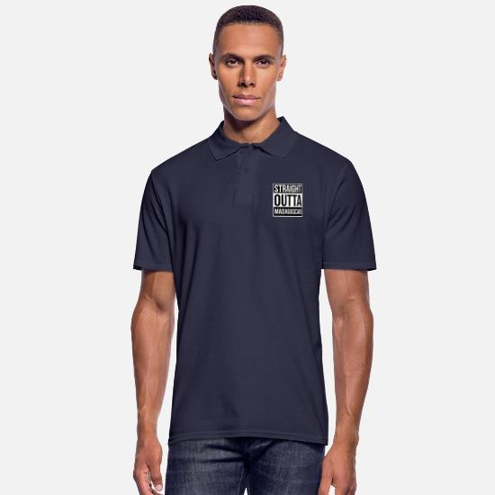 Birthday Polo Shirts - Straight outta Madagascar - Men's Polo Shirt navy
