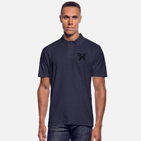 Fly Polo Shirts - Butterfly Tribal - Men's Polo Shirt navy