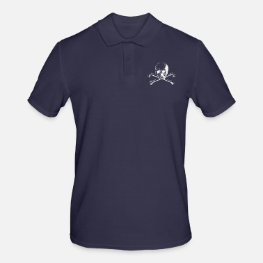 Skull And Bones Skull with crossed bones in white - Men's Polo Shirt