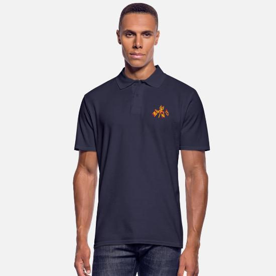 Yoga Polo Shirts - Realized Mind - Men's Polo Shirt navy