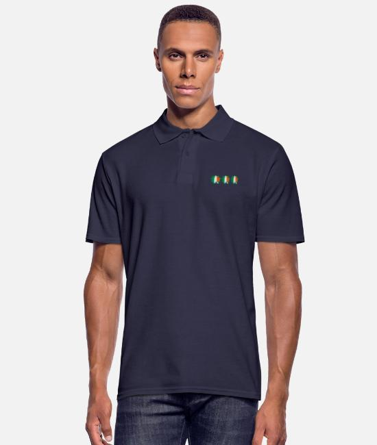 Best Awesome Superb Cool Amazing Identity Ethnicity Race People Language Country Design Polo Shirts - ♥ټ☘Kiss the Irish Shamrocks to Get Lucky☘ټ♥ - Men's Polo Shirt navy