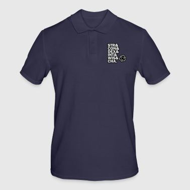 STR & DEX CON & INT & WIS and CHA. - Men's Polo Shirt