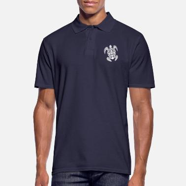 Tortue Maori tatouage tortue blanc - Polo Homme