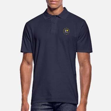 Eu I Love europe Star heart stick eu no brexit circle l - Men's Polo Shirt