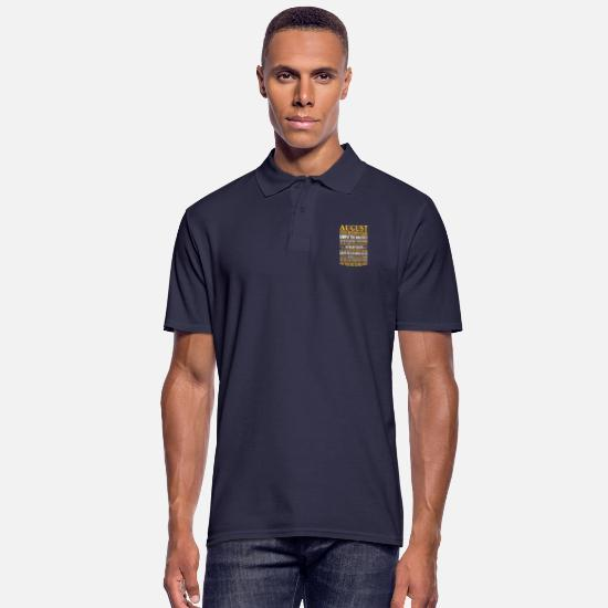 August Polo Shirts - August born simply the greatest - Men's Polo Shirt navy