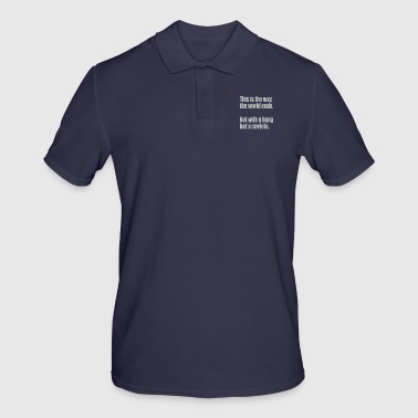 Democrat This is The Way The World Ends Not With Bang But A Covfefe - Men's Polo Shirt