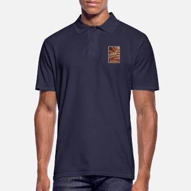 Lange Retro Doberman Poster Distressed Look - Mannen poloshirt
