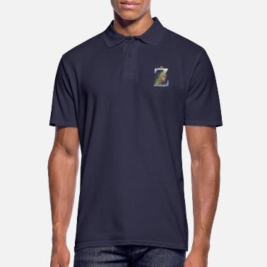 Hip Cow and initial letter Z - Men's Polo Shirt
