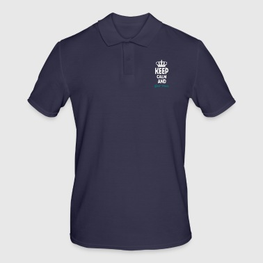 keep calm and dont panic - Men's Polo Shirt