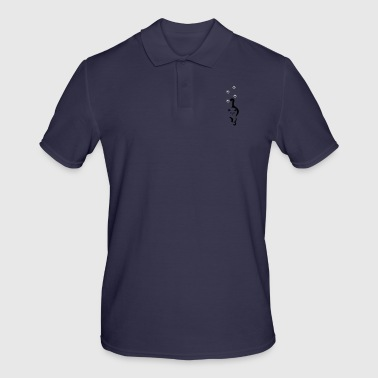 Cat with paw prints - Men's Polo Shirt