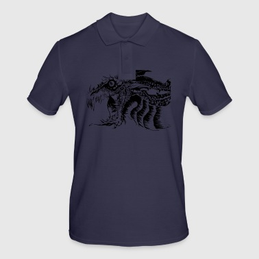 Dragon Black and White Dragon. - Men's Polo Shirt