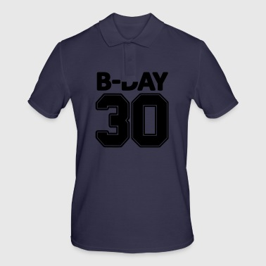 30th birthday number numbers jersey number - Men's Polo Shirt