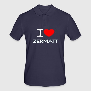 I LOVE ZERMATT - Men's Polo Shirt
