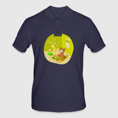 Nursery Cat playing in her nursery - Men's Polo Shirt