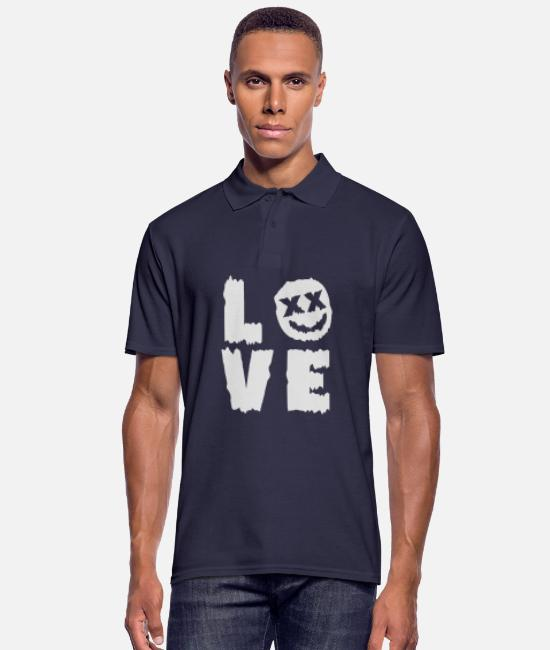 Techno Polo Shirts - LOVE - Men's Polo Shirt navy
