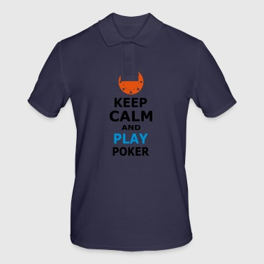 KEEP CALM AND PLAY POKER - Men's Polo Shirt