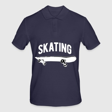 Skate Skater Skateboard Skating Skating - Men's Polo Shirt