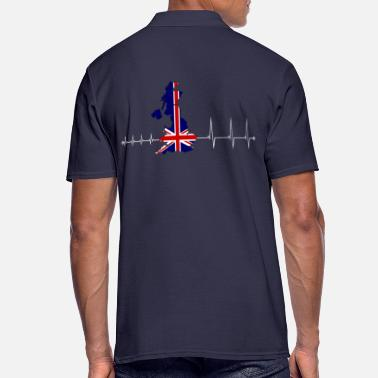 Uk Heartbeat UK - I love UK - Polo Homme
