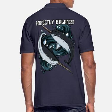 Tooth Perfectly Balanced | Narwhal toothed animal gift - Men's Polo Shirt