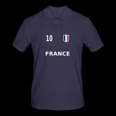 France football jersey number 10 - Men's Polo Shirt