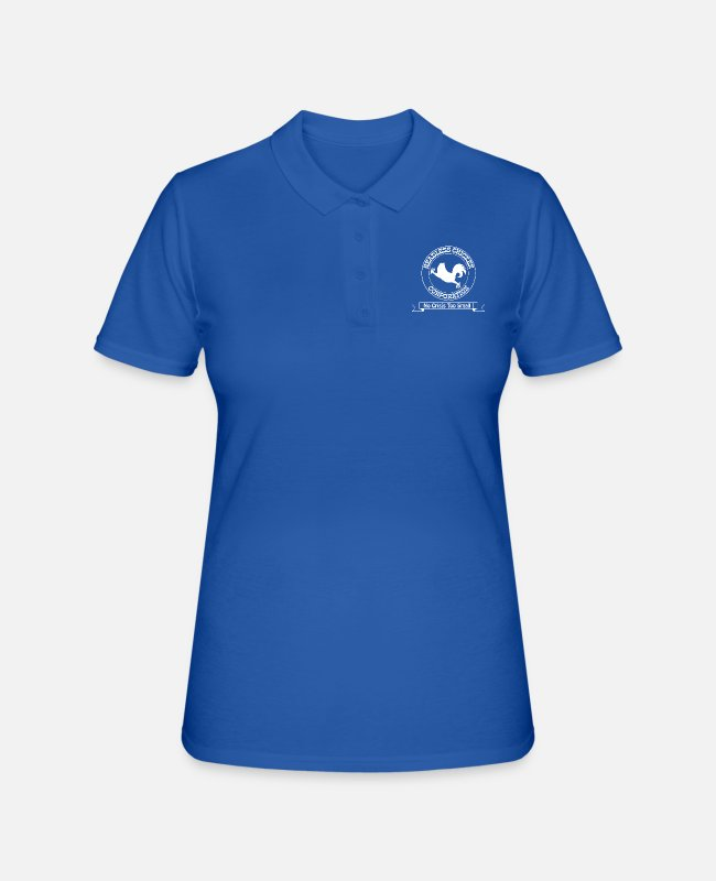 Chaos Polo Shirts - Headless Chicken Corporation - Women's Polo Shirt royal blue