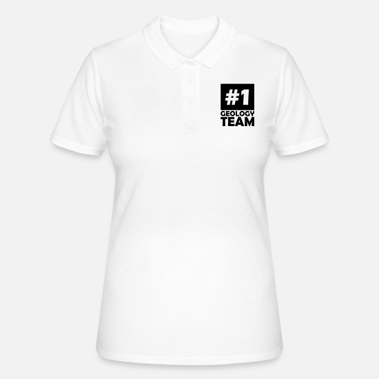 Number Polo Shirts - number one geology team - Women's Polo Shirt white