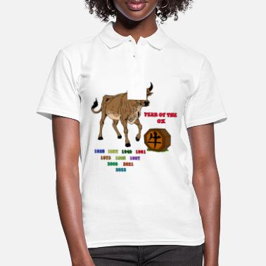 Chinese Year of the Ox Gift idea for zodiac fans - Women's Polo Shirt