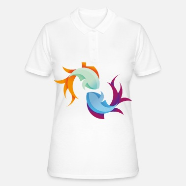 Fish Pisces Zodiac Gift Fishing Ocean - Women's Polo Shirt