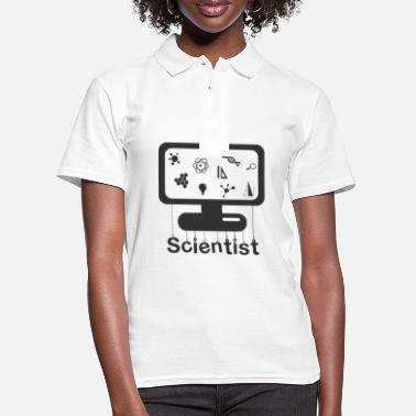 Monitoring Scientist on monitor - Scientist on monitor - Women's Polo Shirt