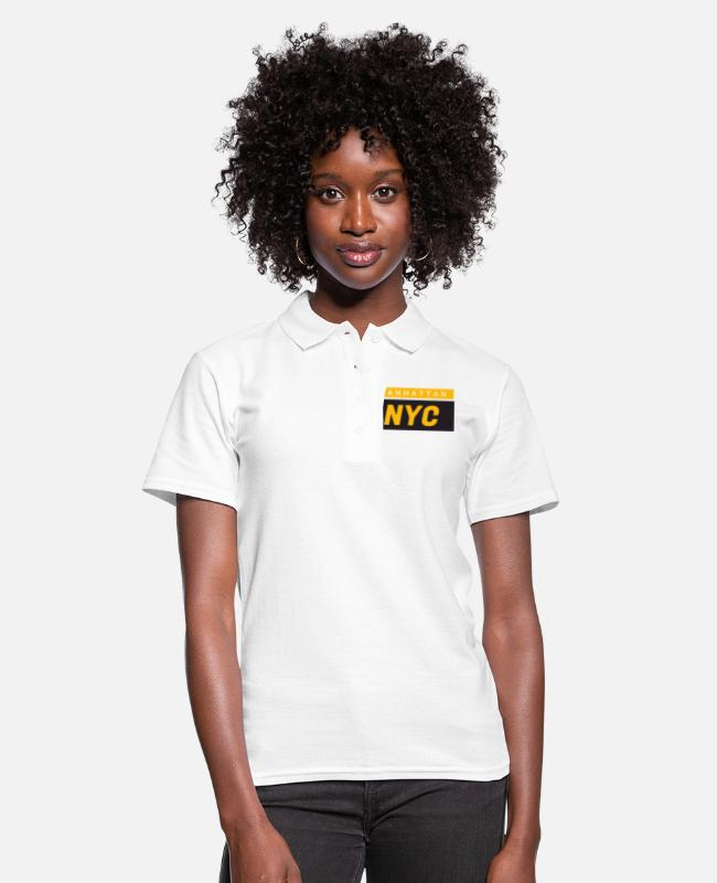 Conductor De Taxi Camisetas polo - Manhattan NYC - Camiseta polo mujer blanco