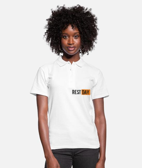 Rest Polo Shirts - Saying - Rest Day - Women's Polo Shirt white