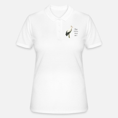 Storch stork  First think,then act ! - Frauen Polo Shirt