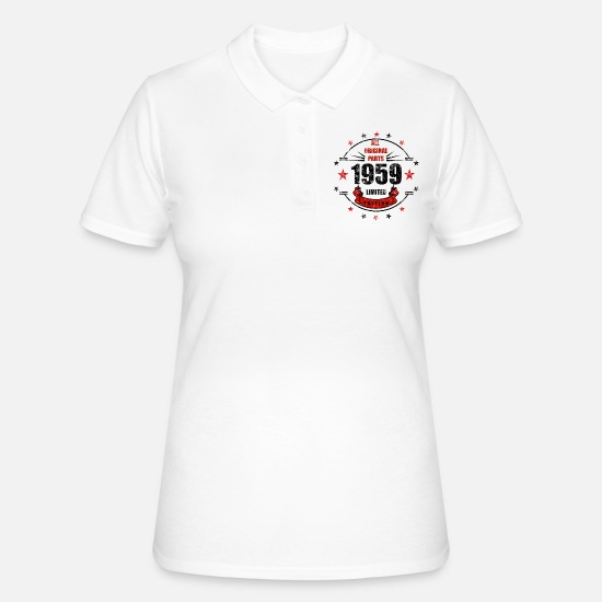1959 Polo Shirts - 1959 - Women's Polo Shirt white