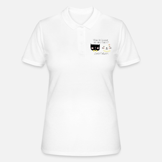 Cat Polo Shirts - cats - Women's Polo Shirt white
