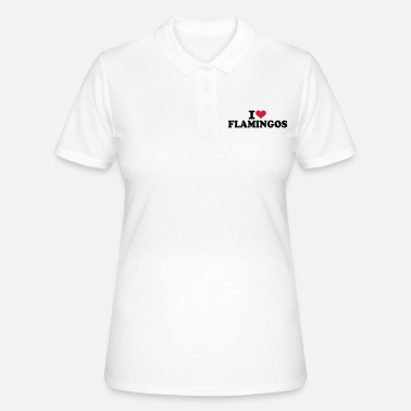 Zoo I love flamingos - Women's Polo Shirt